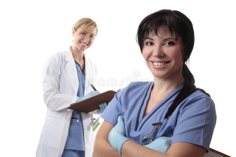 Doutores ou enfermeiras imagens de stock