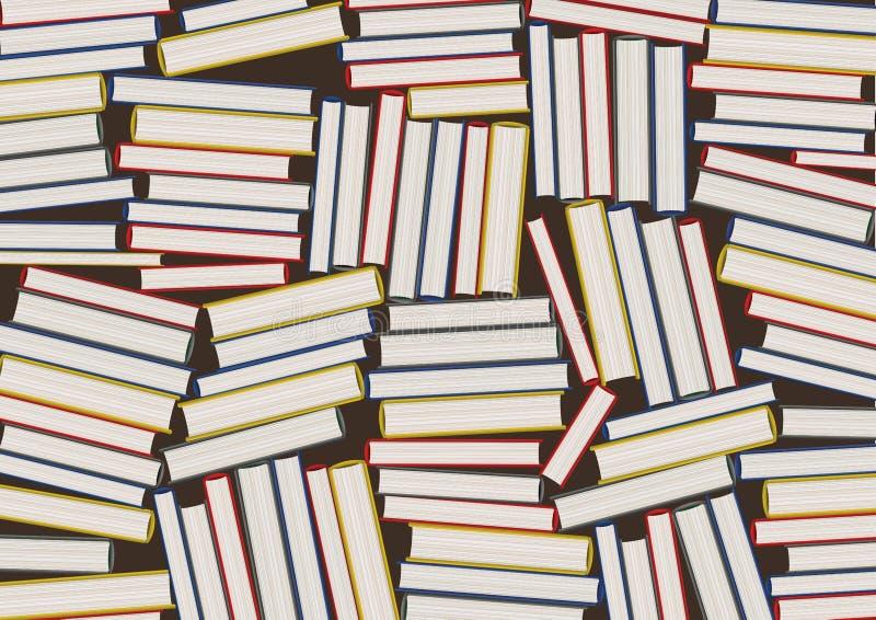 Douzaines de livres empilés les uns contre les autres, symbolisant la connaissance et la culture littéraire illustration de vecteur