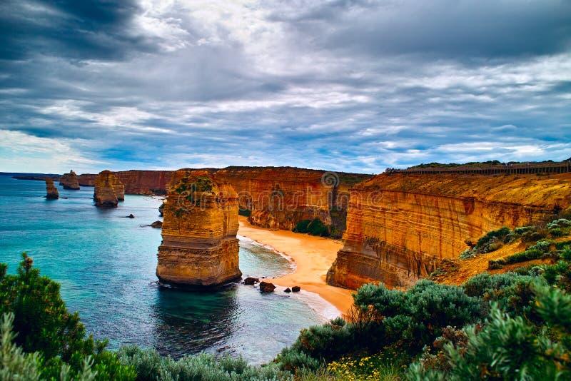 Douze apôtres sur la route grande d'océan photo stock