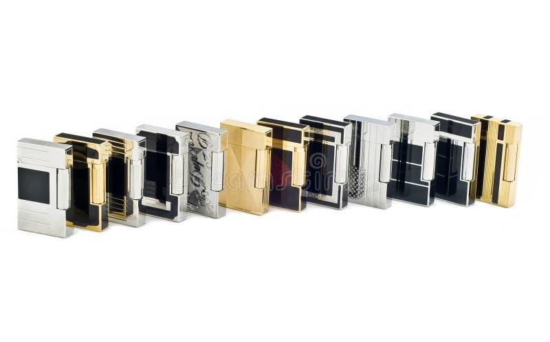 Douze briquets pour cigarettes photos stock