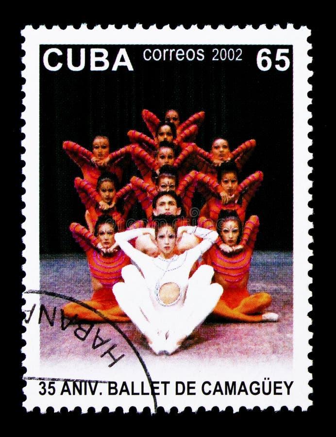 Douze danseurs, trente-cinquième anniversaire du serie du ballet De Camagsuey photos stock