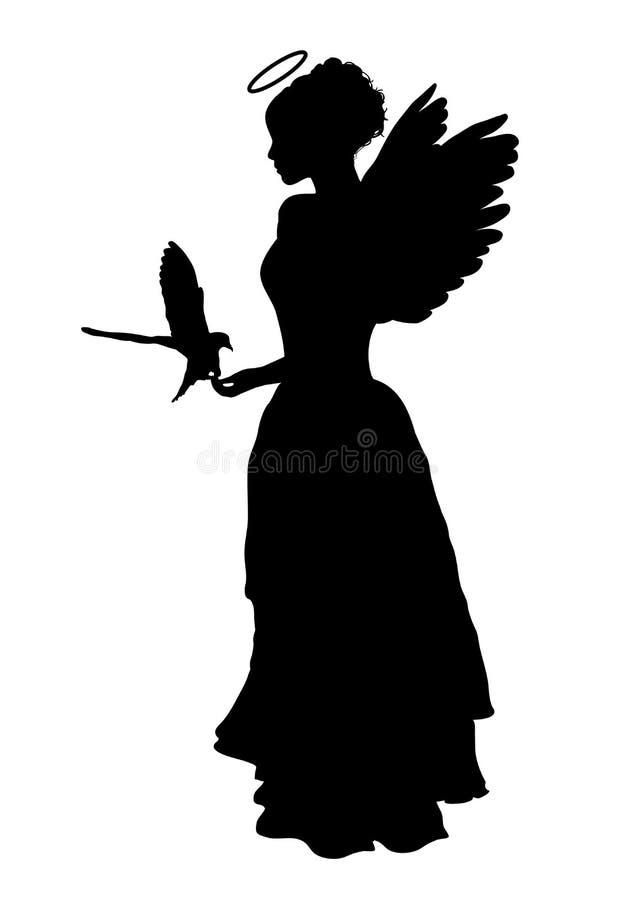 dove ангела иллюстрация вектора