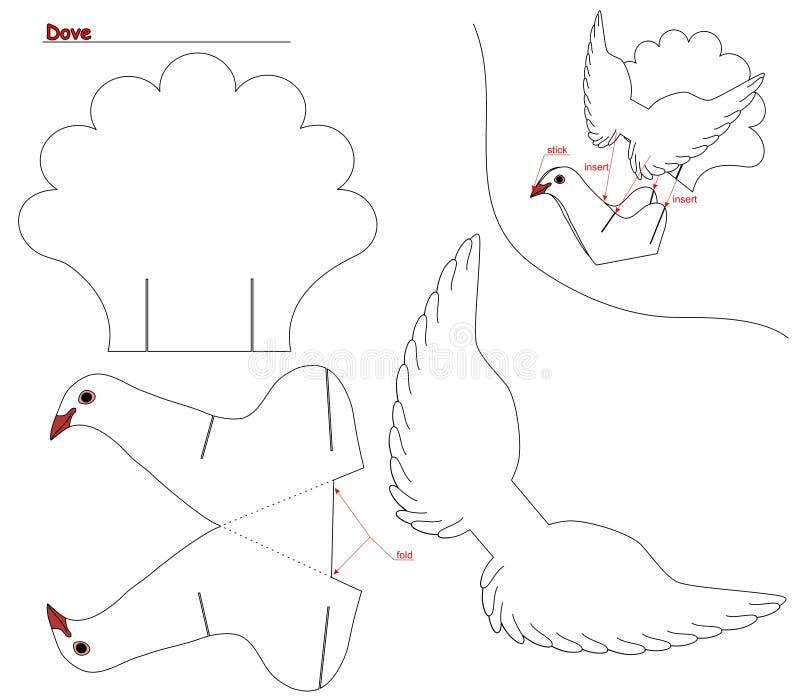 Dove выреза стоковые изображения rf