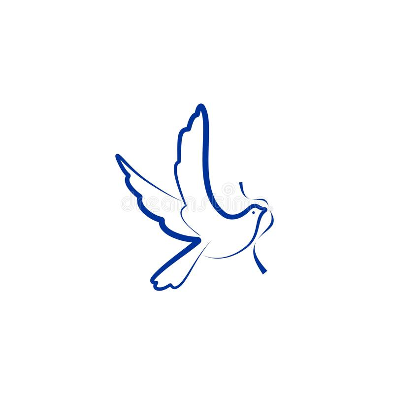Dove bird vector logo stock illustration