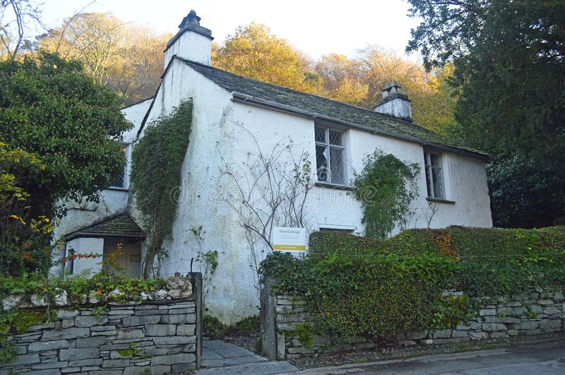 Dove Cottage the former home of William Wordsworth royalty free stock images