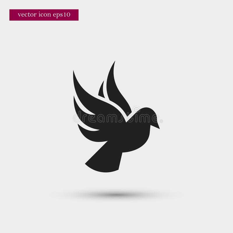 Dove icon. Simple romance element illustration. Valentine symbol design from love collection. Can be used in web and mobile vector illustration