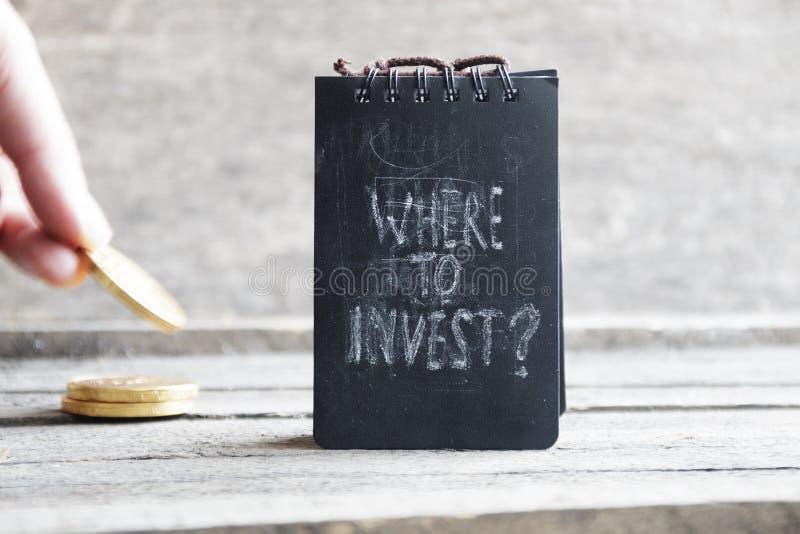 Dove investire idea dell'investitore immagini stock libere da diritti
