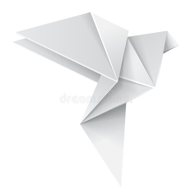 Dove Origami иллюстрация вектора