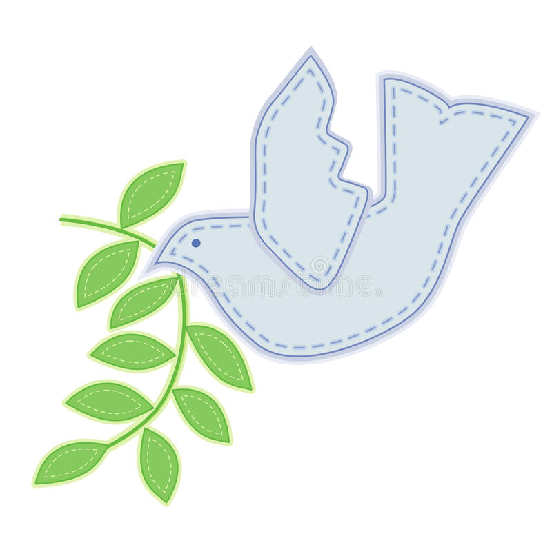 Download Dove of Peace Embroidery stock vector. Image of design - 17616984