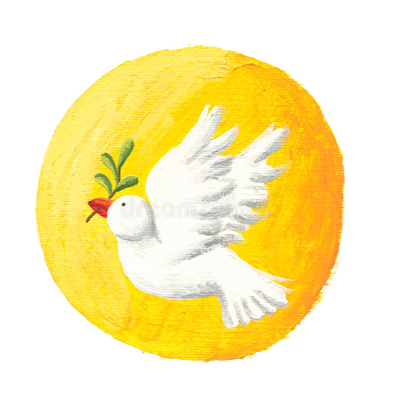 Download Dove of Peace and Sun stock illustration. Image of branch - 16168695