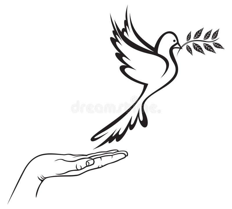 Download Dove of Peace stock vector. Image of dove, globe, olive - 32262936