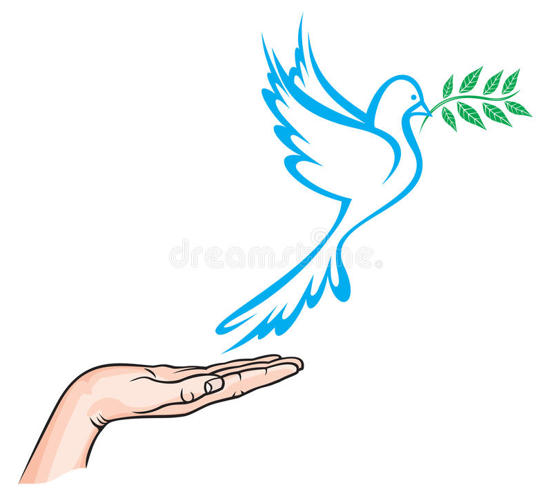 Dove of Peace royalty free illustration