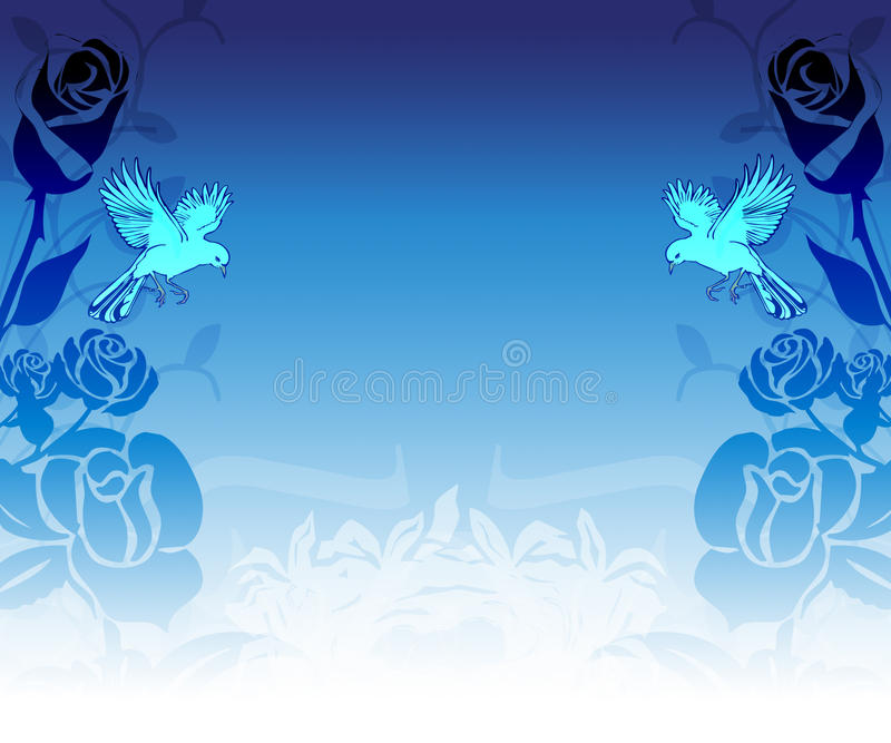 Download Dove Roses Background stock illustration. Image of look - 13142827