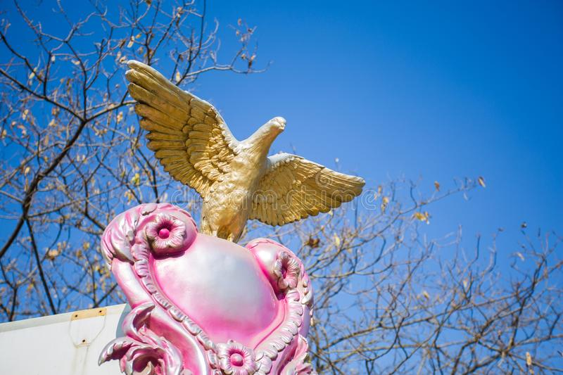 The dove sculpture royalty free stock photo