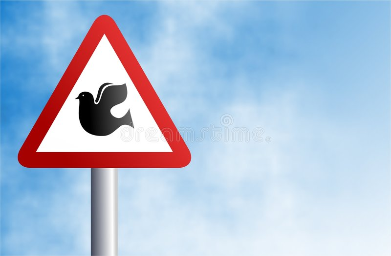 Dove sign royalty free illustration
