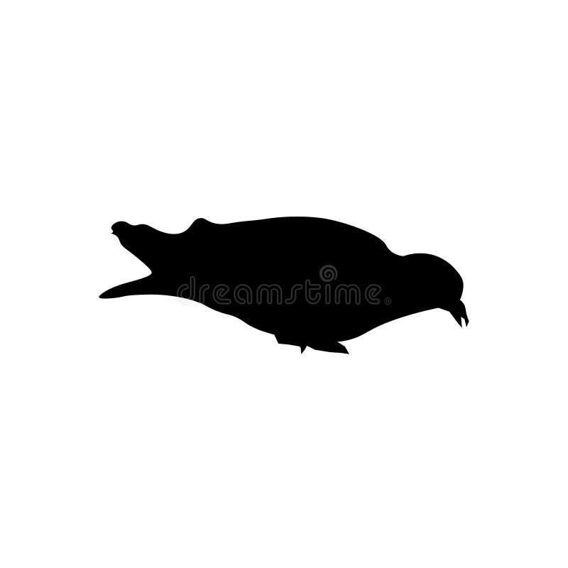 Dove silhouette sign. Eats a dove sign. Eps ten stock illustration