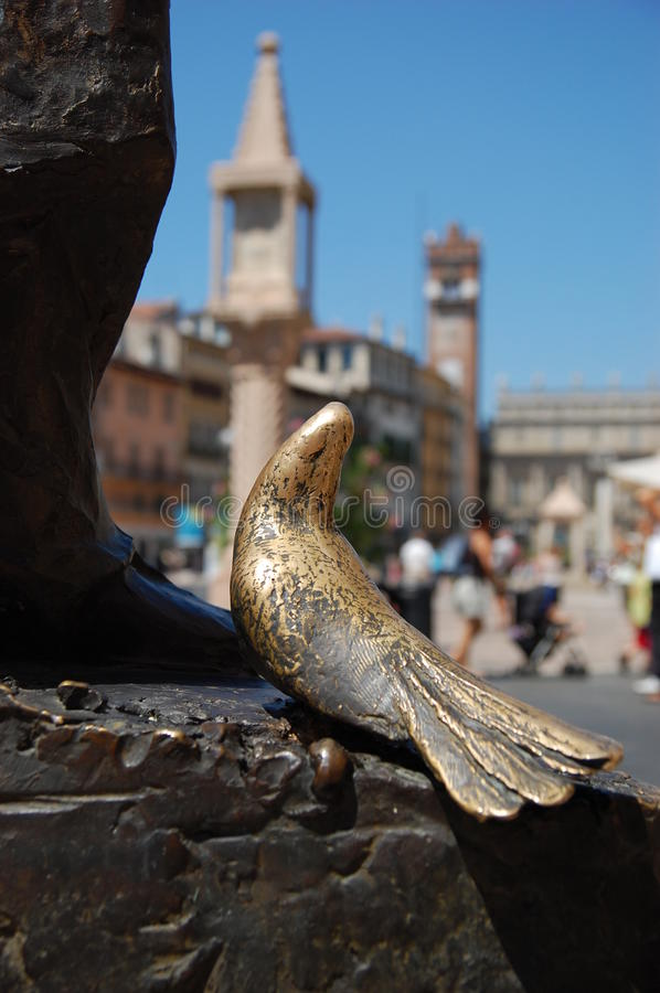 Download Dove take a look around stock image. Image of romeo, gold - 12604735