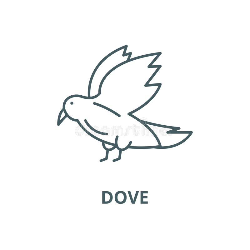 Dove vector line icon, linear concept, outline sign, symbol vector illustration