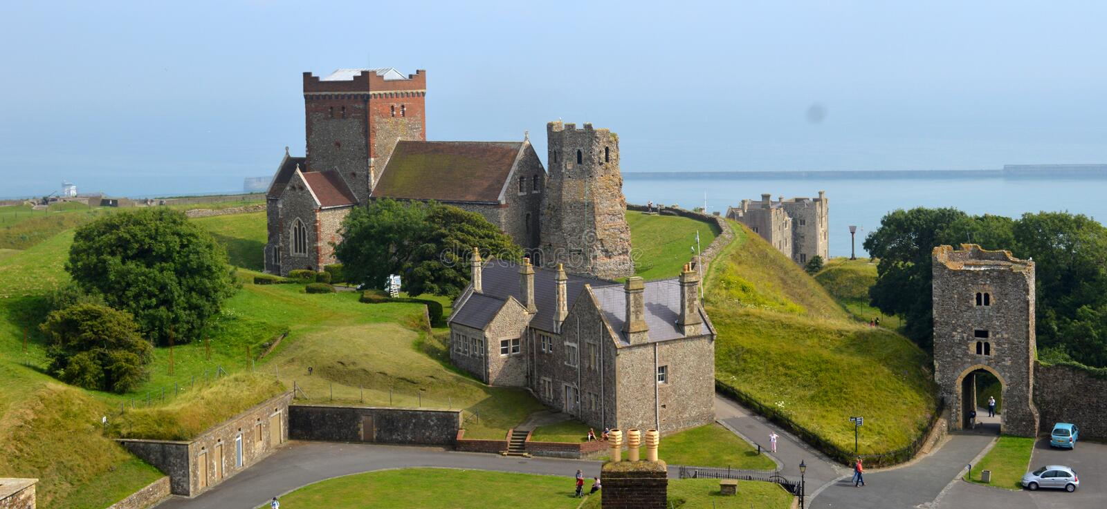 Dover Castle Buildings stock photography