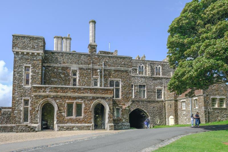 Dover Castle, Douvres, Kent, R-U - 17 août 2017 : Pe de Dover Castle image stock