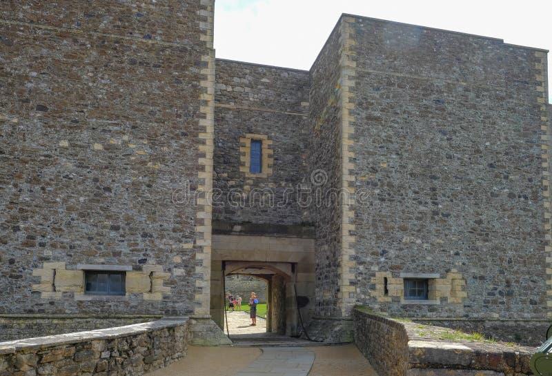 Dover Castle, Douvres, Kent, R-U - 17 août 2017 : Une entrée à photos libres de droits