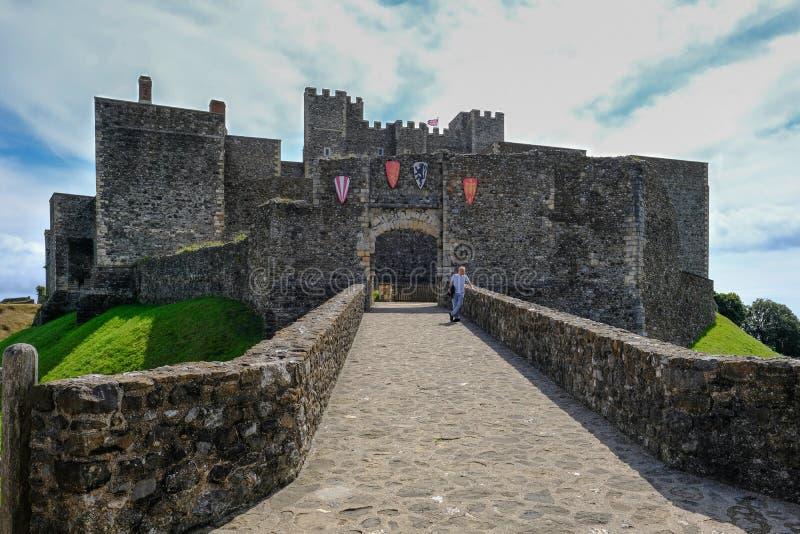 Dover Castle, Douvres, Kent, R-U - 17 août 2017 : vue de château photographie stock libre de droits