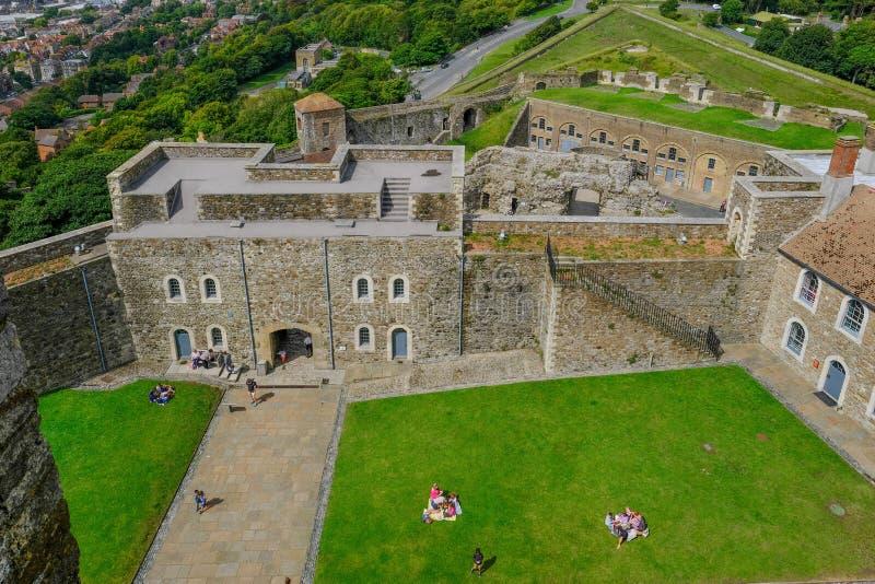 Dover Castle, Douvres, Kent, R-U - 17 août 2017 : Vue du t images libres de droits