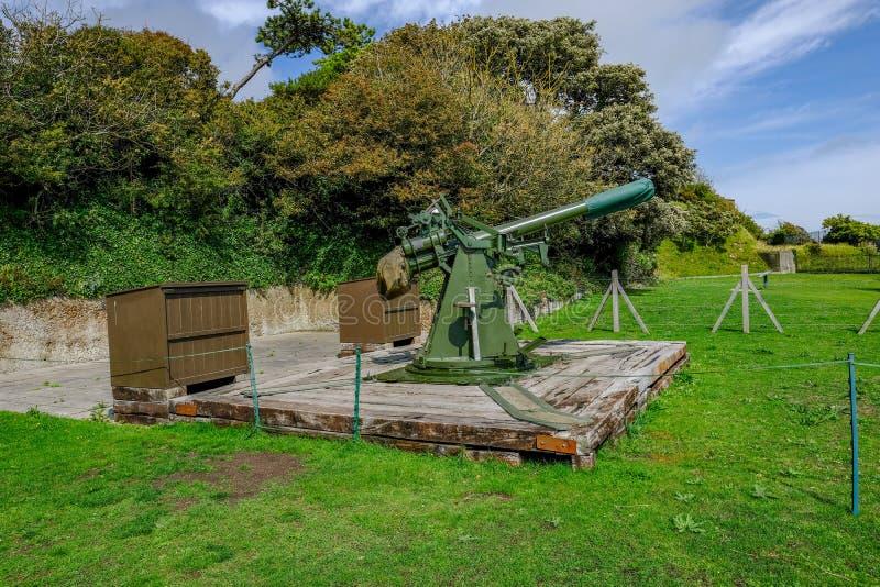 Dover Castle, Douvres, R-U - 17 août 2017 : Anti-aircraf original images libres de droits