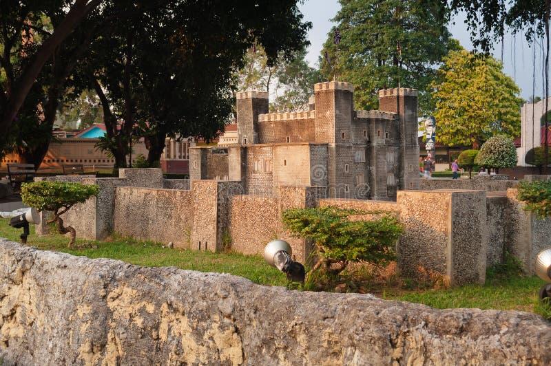 Dover Castle i Mini Siam Park fotografering för bildbyråer