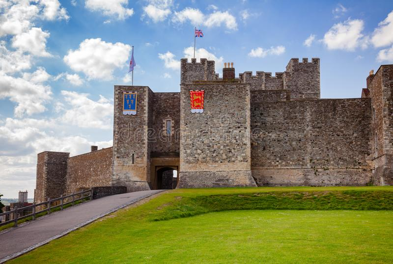 Dover Castle Inner Bailey Wall Kent Southern England Großbritannien stockfotografie