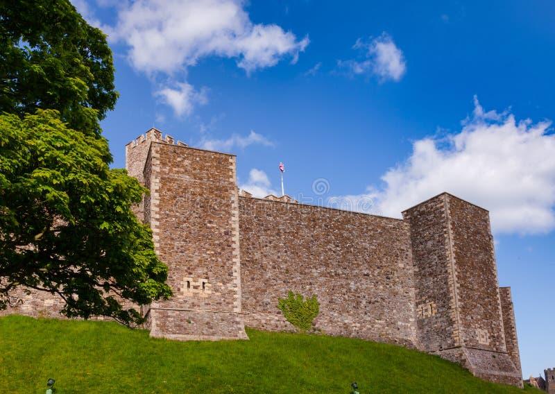 Dover Castle Inner Bailey Wall Kent Southern England UK royaltyfri bild