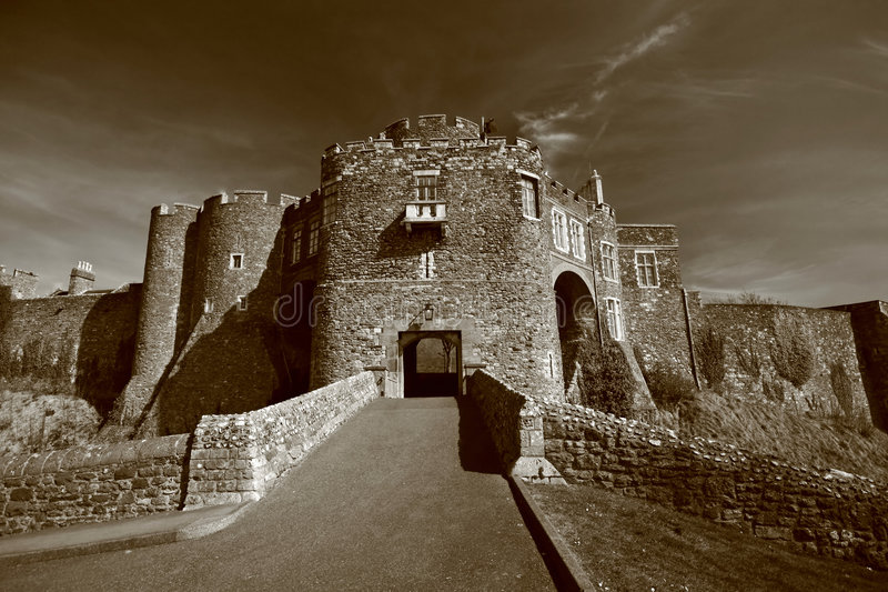 Dover Castle in Kent, England stock photo