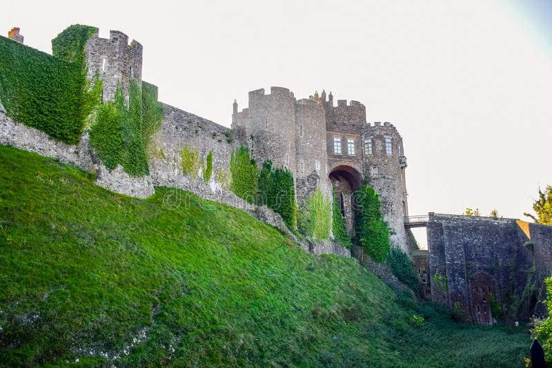 Dover Castle, a medieval castle in Dover, Kent, England, UK royalty free stock photo