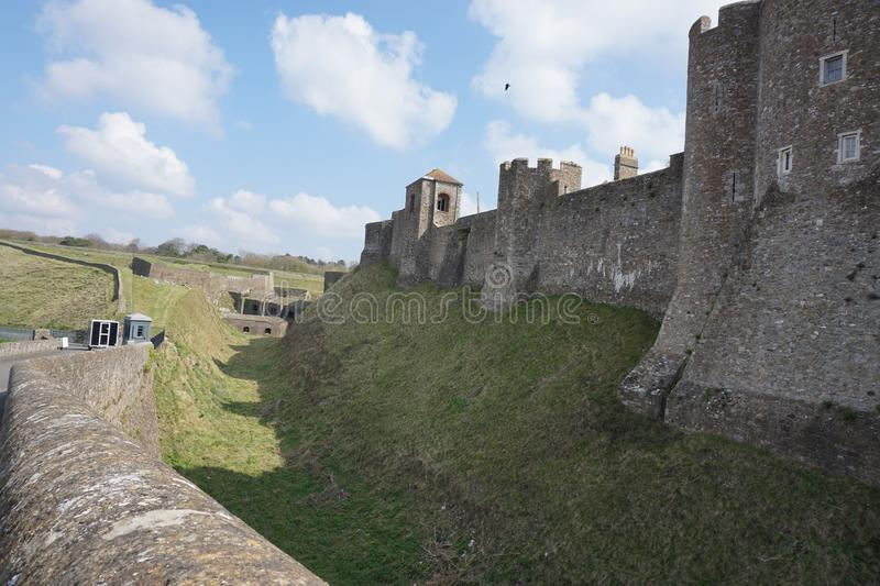 Dover Castle from the outside stock photo