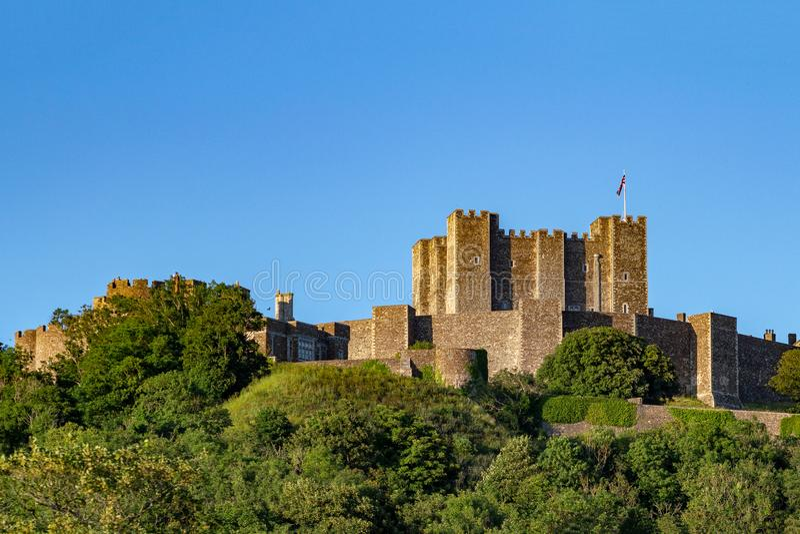 Dover Castle a Dover, Risonanza Costruzione medievale del XI secolo con significato difensivo immagine stock