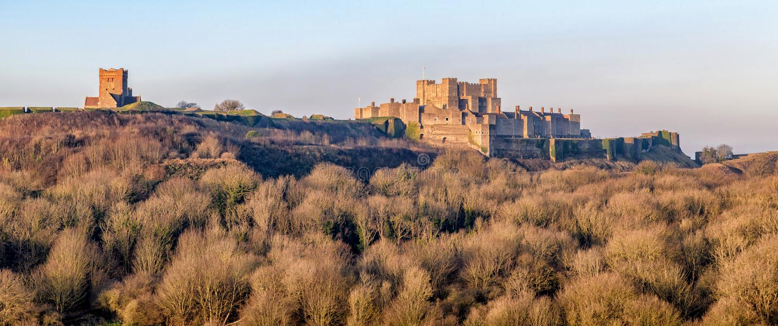 Dover castle and saxon church in kent england royalty free stock photography