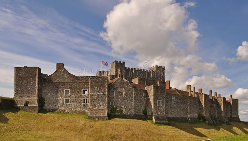 The Dover Castle in south east England stock photo