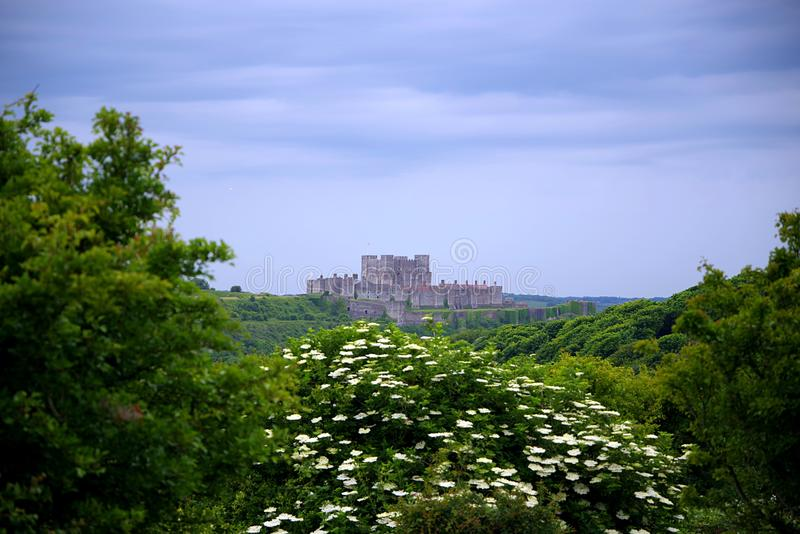 Dover Castle `-tangent till England `, arkivbild