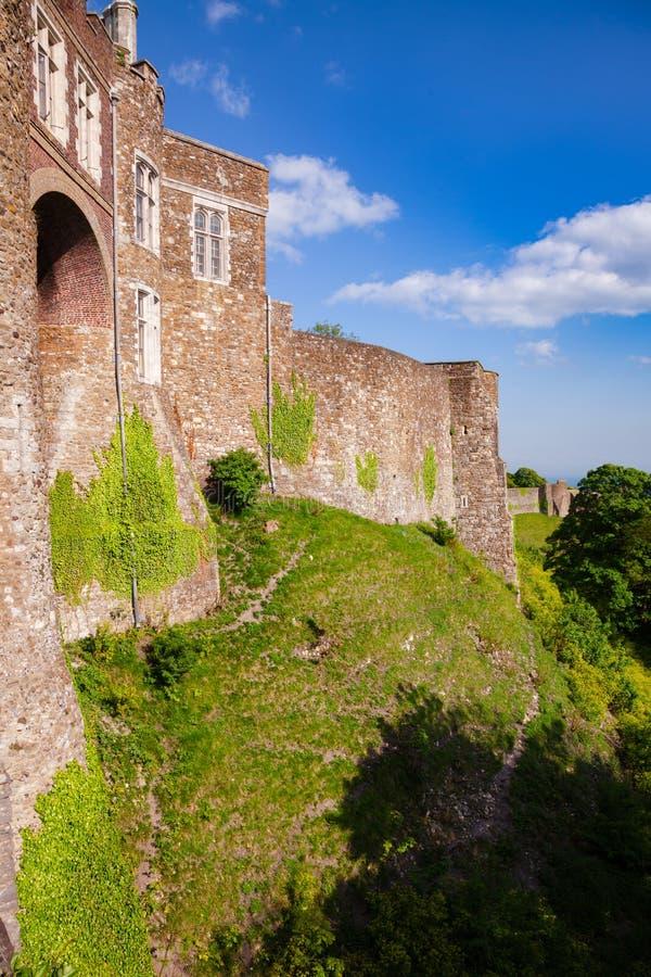 Dover Castle yttre gardinvägg Kent Southern England UK royaltyfria foton