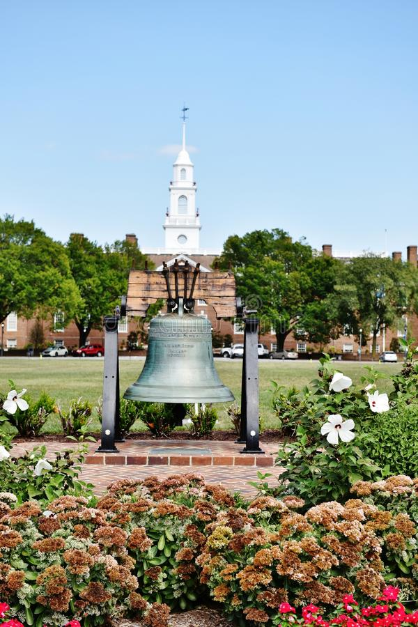 Dover Delaware stanu usa sala swobody prawodawczy dzwon fotografia stock