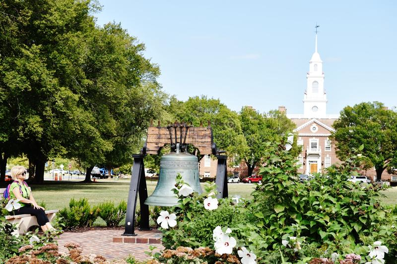 Dover delaware state usa legislative hall bell visitor stock image