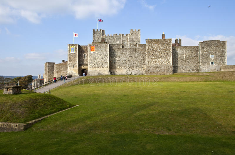 Dover-Schloss in Kent stockfotos