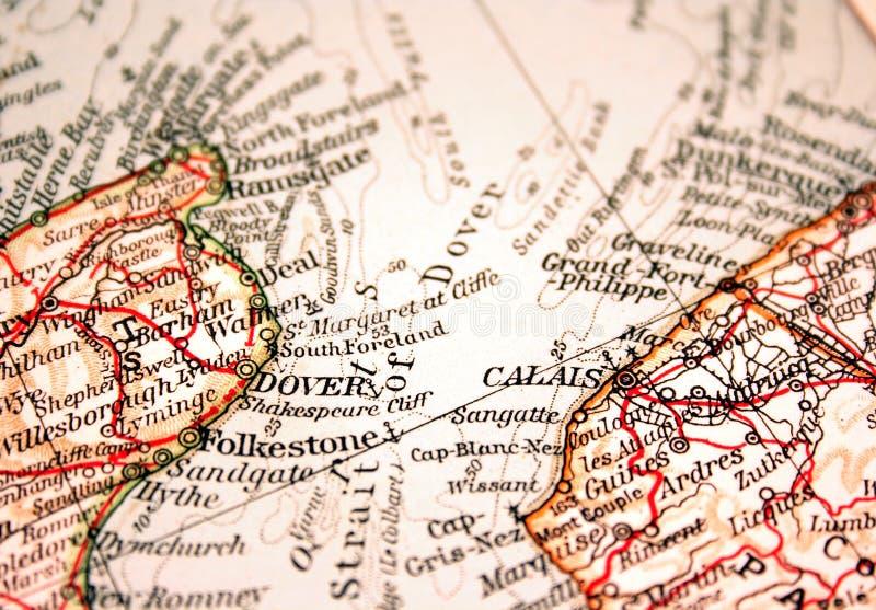 Dover und Calais lizenzfreie stockfotografie