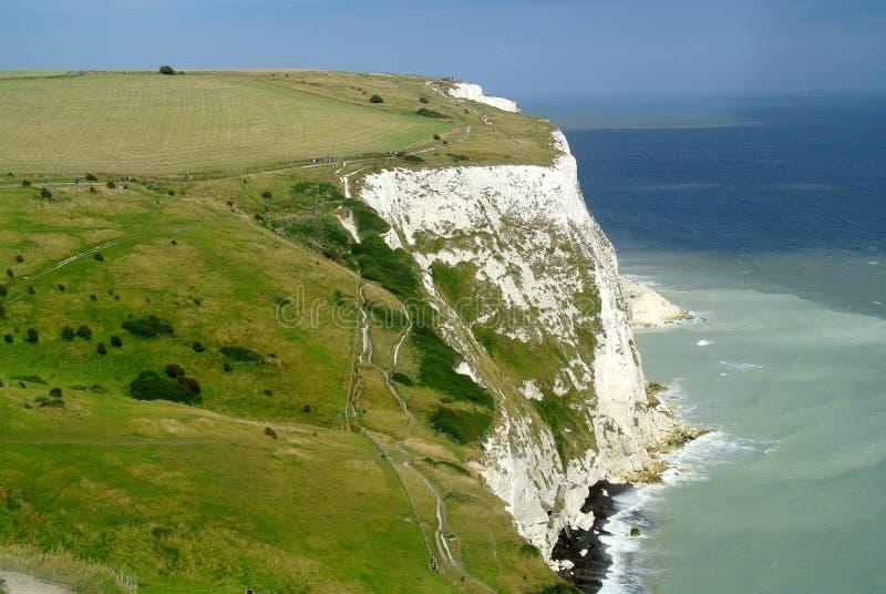 Dover White Cliffs stockbilder