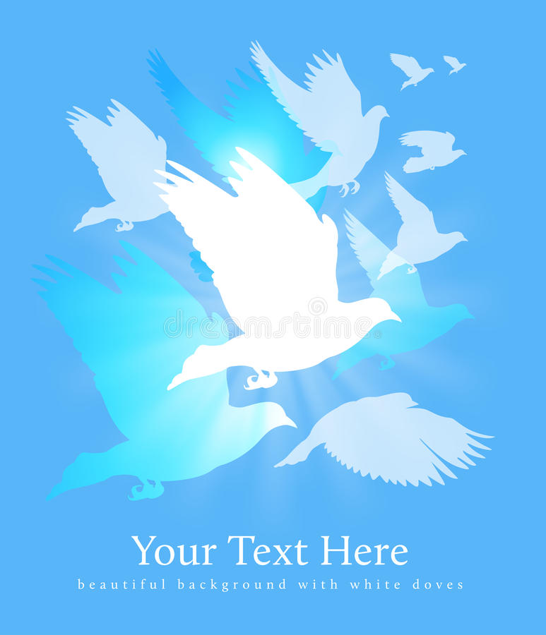 Download Doves stock vector. Image of copy, pigeon, cover, print - 18970556