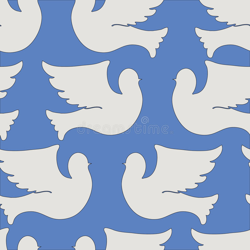 Free Doves And Pigeons Seamless Pattern Stock Photos - 58262623