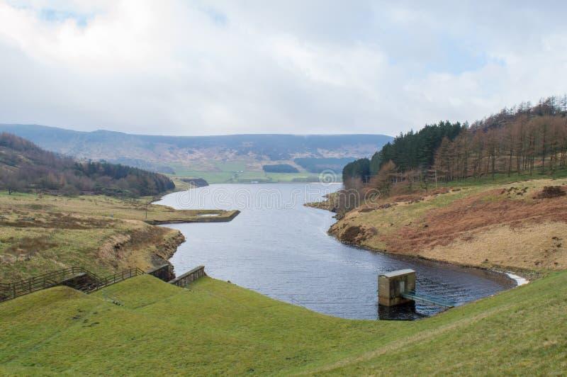 Dovestone Reservoir. Located at Dovestone National Park, Saddleworth Moor, Peak District, England stock photos
