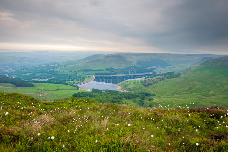 Dovestone Reservoir in Peak District National royalty free stock photography