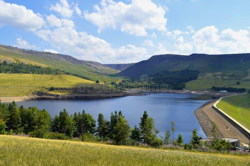 Dovestone Reservoir in summer royalty free stock image