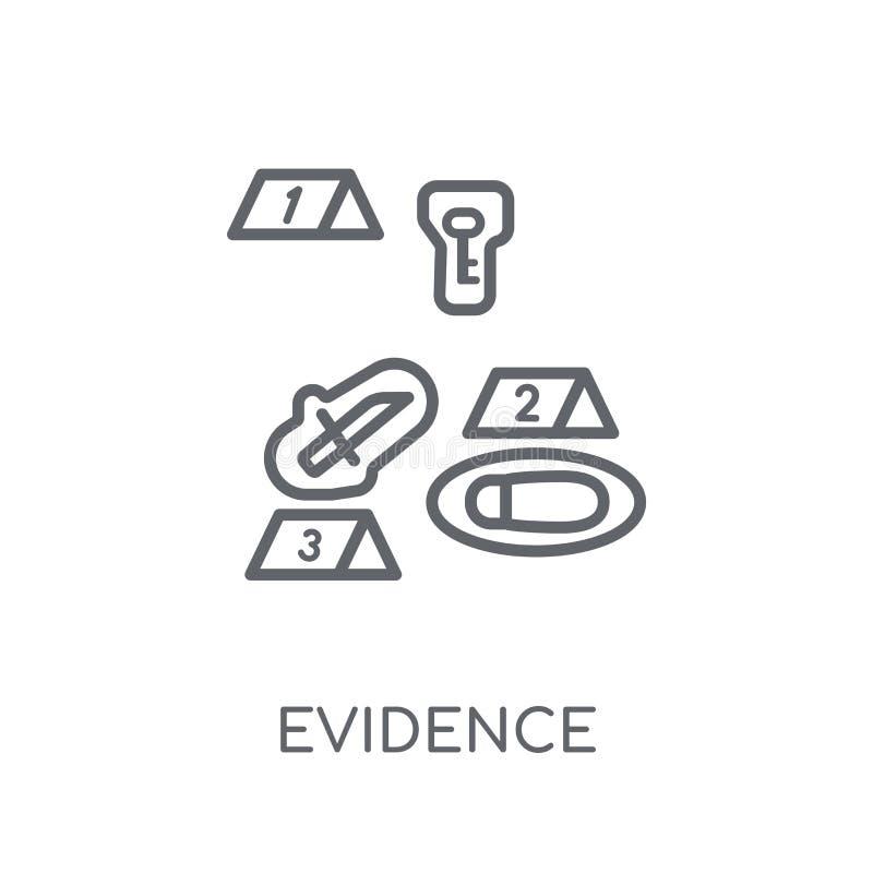 Dowód liniowa ikona Nowożytny konturu dowodu logo pojęcie na wh royalty ilustracja